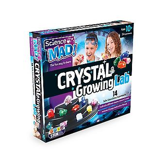 Science mad crystal growing kit, 3 different types of chemical crystals, for age