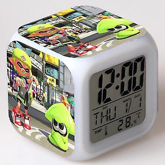 الملونة متعددة الوظائف الصمام الأطفال & apos;ق منبه ساعة -splatoon #11