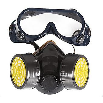 Chimice industriale de gaz Anti-praf Spray Paint Face Mask Respirator Ochelari de protecție