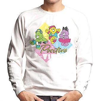 Care Bears Lykke Bjørn Positive Vibes Hvit Tekst Menn's Sweatshirt