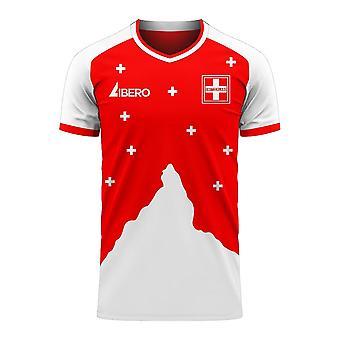 Suisse 2020-2021 Home Concept Football Kit (Libero)