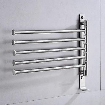 Stainless Steel Towel Rack -hanging Holder Wall Mounted Rotating Bar