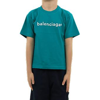 Balenciaga S/S T-Shirt Blue 556155TJVL94741 Top