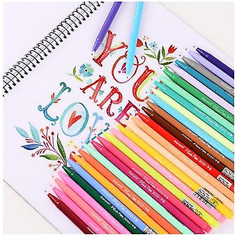 Water Color Micron Fiber Pens Writing Drawing Sketch Stationery Office School