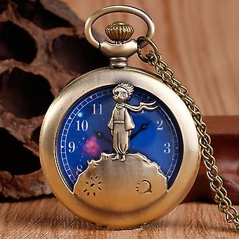 Retro Smooth Steampunk Quartz Pocket Watch Stainless Steel Pendant