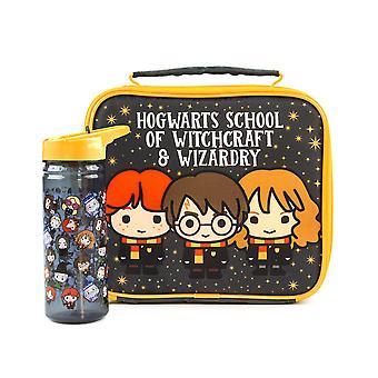 Harry Potter -lounaspussi ja pullosetti lapsille   Pojat Tytöt Ron Harry Hermonie Chibi Hahmo School Food Carrier & Vesipullo   Ohjatun toiminnon kauppatavara
