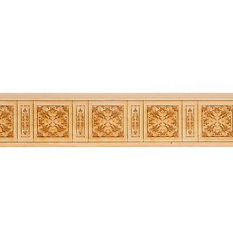 Dolls House Wainscot Interior Two Pattern Paneling Laser Cut Wood Wainscoting