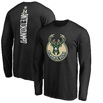 Milwaukee Bucks No.34 Antetokounmpo Short T-shirt Sports Tops 3CX040