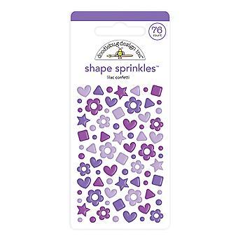 Doodlebug Design Lilac Konfetti Form Strössel