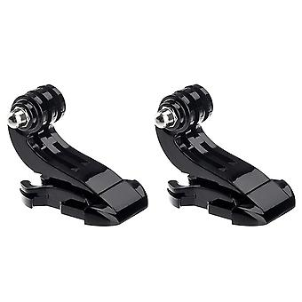 Jjonlinestore - 2x j hook buckle vertical surface mount holder for gopro hero 1 2 3 3+ 4 camera chri