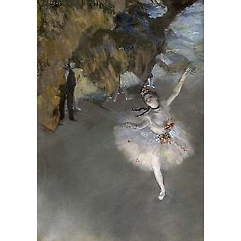 Den stjärnan affisch Skriv av Edgar Degas