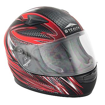 Stealth HD127 Razor Kids Full Face Helmet - Red