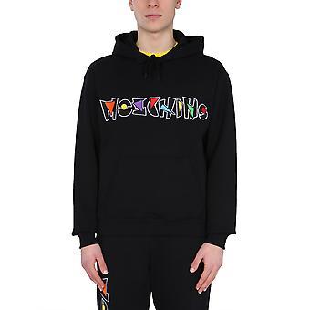 Moschino 170520271555 Männer's schwarze Baumwolle Sweatshirt
