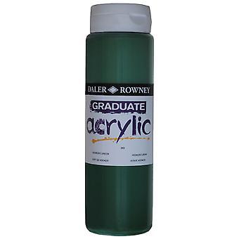 Daler Rowney 123500343 Graduate Acrylic Paint 500ml Hookers Green