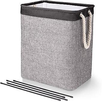 Cotton Linen  Laundry Basket Toy Household Sundries Storage Bag Detachable Bracket Foldable Dirty Clothes Storage Basket