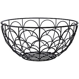 Vertex Deco Fruit Basket, Black
