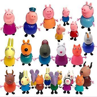 Peppa Pig Complete Series Familie, Anime Pvc Model Verjaardag
