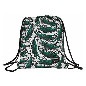 Backpack with strings blackfit8 alligator