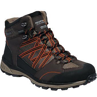 Regatta Mens Samaris II Waterproof Outdoor Walking Hiking Ankle Boots - Peat