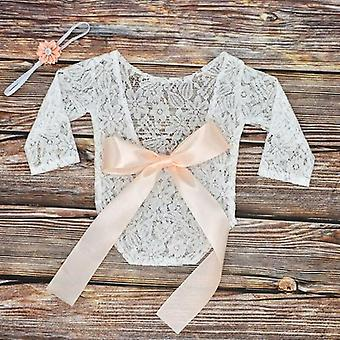 Baby Photography Props Clothes Bodysuits Cute Lace Bow Toddler