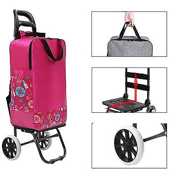 Women Shopping Bags Folding Trailer Trolley