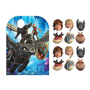 How to Train Your Dragon Party Pack with Cardboard Stand In and Masks