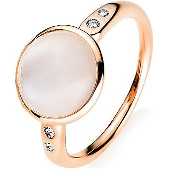 Diamond Gemring Ring - 18K 750 Red Gold - 0.05 ct. - 3.78 ct.