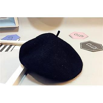 Autumn Baby Hat, Beret Painter Bud Of Pure Wool Cap, Tide Newborn Photography