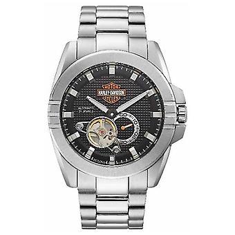 Harley Davidson Mäns Automatiska Gasreglage | Rostfritt stål armband 76A166 klocka