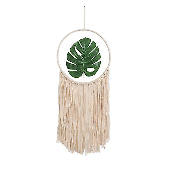 Handmade Woven Thick Leaf Macrame Dream Catcher Wall Hanging Tapestry