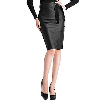Sexy High Waist Faux Leather Pencil Skirt
