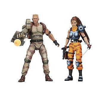 Nederlandsk og Lin POSEABLE figur sett fra Alien vs Predator Arcade Game