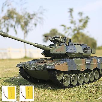 Tysk Tiger Battle Simulation, Army Military Rc Tank, Fjärrkontroll Rök &