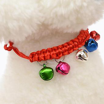 New 1 X Dog Cat Collar With Bell For Small Dog Red 18cm ES4909