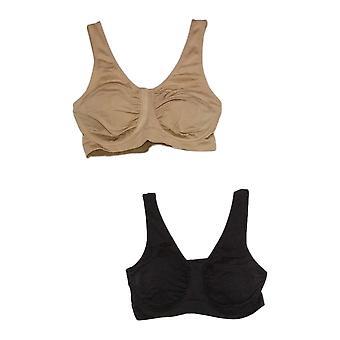 "Rhonda Shear Women's Bra Reg ""Perfect Match"" 2-pack Black 749424"