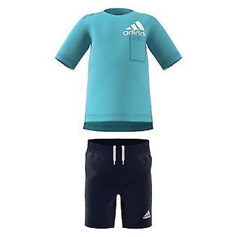Survêtement pour enfants Adidas I BOS SUM GM8943 Bleu/74 cm