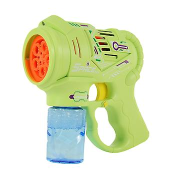 Automatic Music Bubble Machine Cartoon Bubble Blower With 100ml Bubbles Water Summer Kids(Green)