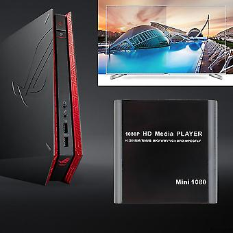 Us Mini 1080p Full Hd Media Player-com Mkv/rm/usb Hdd-hdmi Function