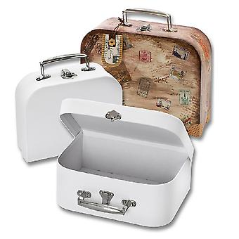 Pair of White Board Suitcases for Crafts & Decoration | Papier Mache Shapes