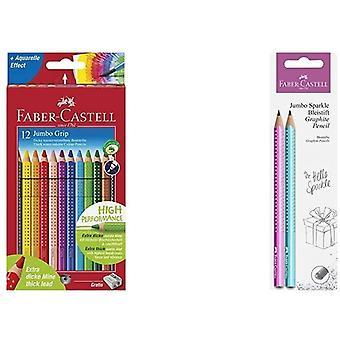110912 - Farbstift Jumbo Grip Kartonetui 12er & 111678 - Bleistiftset Jumbo Sparkle, 2er Set