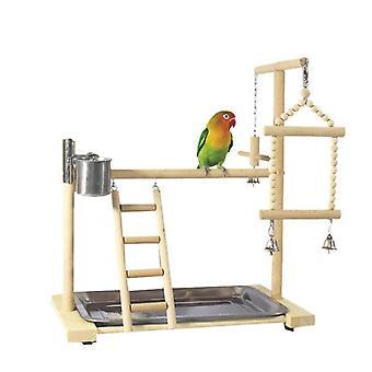 Papegaai Playstands met Cup Toys Tray Bird Swing Ladder Bridge Cockatiel Playground Bird Zitstokken