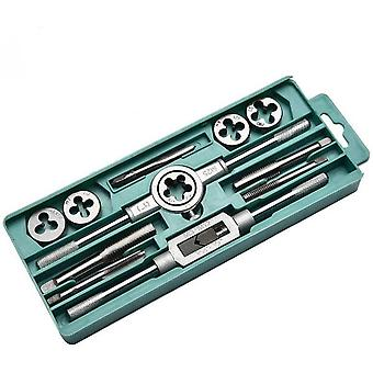 Taps And Dies Kits 12pcs Wrench Metric Screw Hand Tapping Tools M3-m12 M25