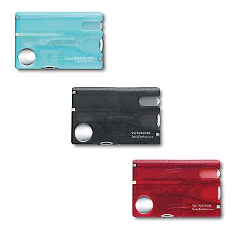 Victorinox-Swisscard Nailcare - 12 functie Swiss army kaart met glas nagelvijl