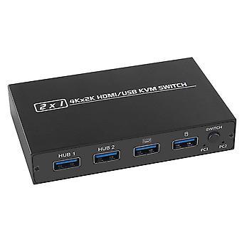 KVM Switch HDMI UHD 4K piese de siguranță a computerului de uz casnic pentru 2 computere Partajarea tastaturii monitorului