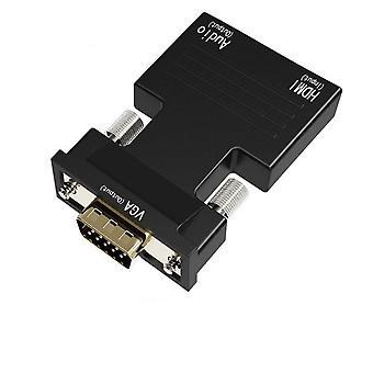 HDMI VGA muunnin sovitin audio naaras uros kaapelit 720/1080P HDTV-näytön TV-laatikko