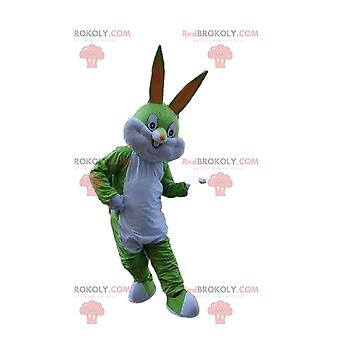 Mascote REDBROKOLY.COM coelho verde, animal verde, mascote REDBROKOLY.COM Pernalonga