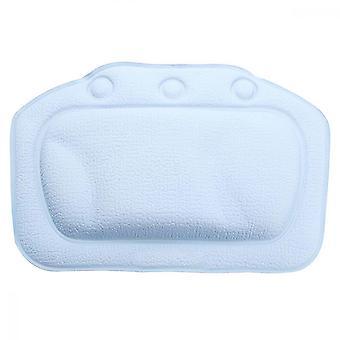 浴室の付属品のための浴室の枕の無スリップの吸引カップの首サポートの浴槽の枕、ライトブルー