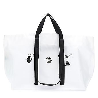 Off-White PVC Logo Tote Bag