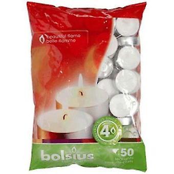 Candles bag 50 tealights 4hr burn time [103630308100]