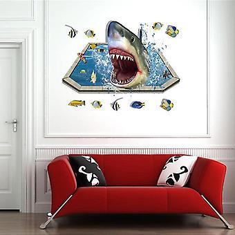 3d Shark Muurstickers Stickers Decoratie Schilderij Kleuterschool Pasta